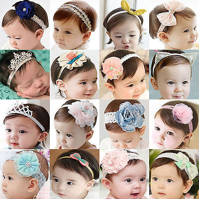 High Infant Toddler Baby Girl Flower Headband Hair Band Kids Hair Accessories