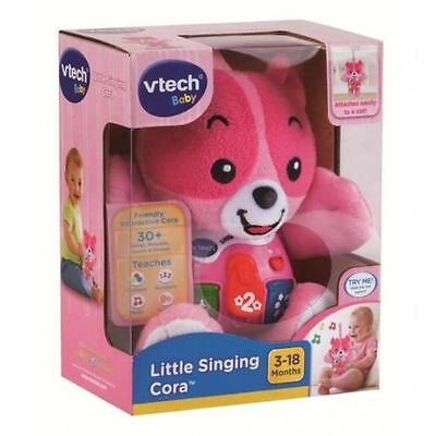 Vtech Baby Infant Toy Little Singing Cora Musical Teddy Bear Pink 165753