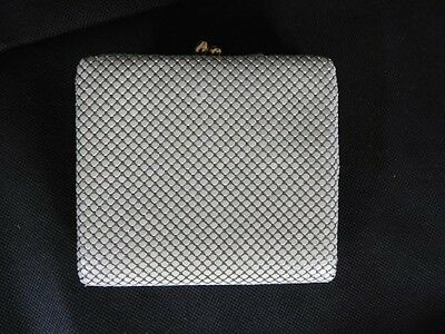 Vintage Glomesh White Coin Note Purse