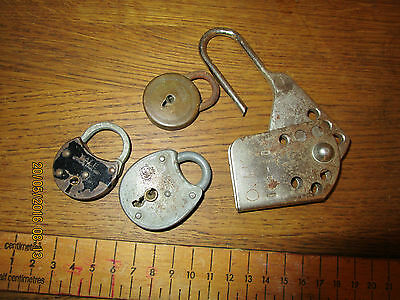 Collection of miniature Padlocks - Yale / 2 Anchors / English Made etc . Brass