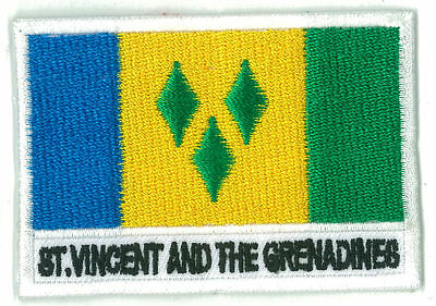 patch embroidered badge patch flag ST VINCENT et the GRENADINES 70/45 mm