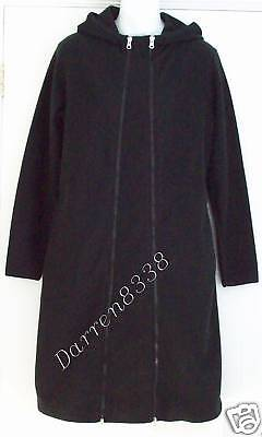 New~Jojo Maman Bebe~Black Fleece Maternity Coat Jacket 10 Removeable Panel