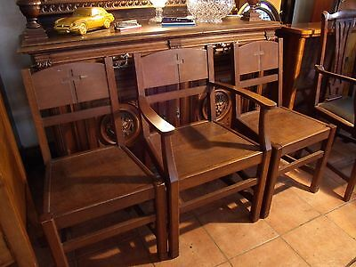 chapel chairs oak chairs x 3