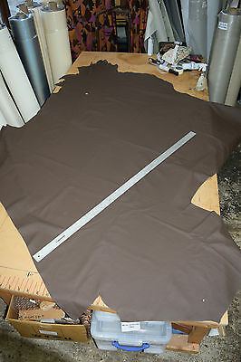 UPHOLSTERY LEATHER HIDE DARK BROWN BOAT CAMPER QUALITY 45 sq ft? SSL3
