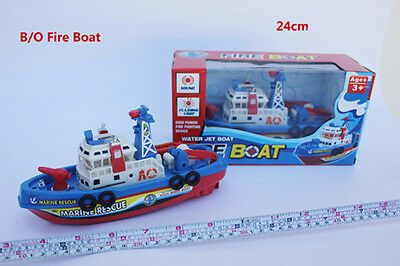 Battery Operated Fire Boat Water Spray X'mas Birthday Gift Bath Toy Wholesale