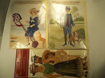 Set of 3 Paper Doll Cards