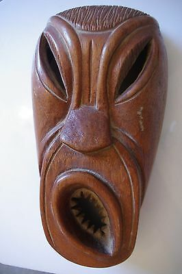 Superb Hand Carved Mask Wood Wooden Caleb Signed Balinese stock code 3414