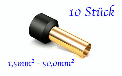 Viablue Ofc Crimp Sleeves 24k Gold Plated for cross Sections from 1,5 - 50mm ² (