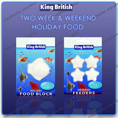 King British Aquarium Holiday Vacation Block Fish Food Feeding Tropical Cold