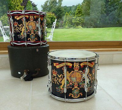Genuine Royal Marines Marching Band  Double Snare Drum Premier Military