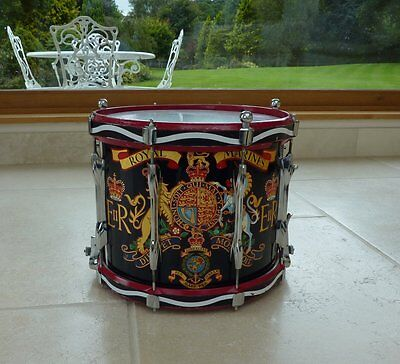 Genuine Royal Marines Marching Band  Double Snare Drum Premier 97S Military