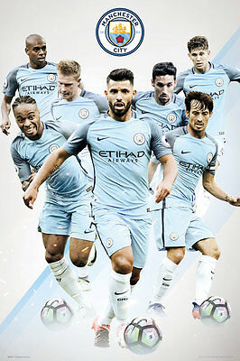 Manchester City FC Poster - Players 16/17 - New Man City Football poster SP1379
