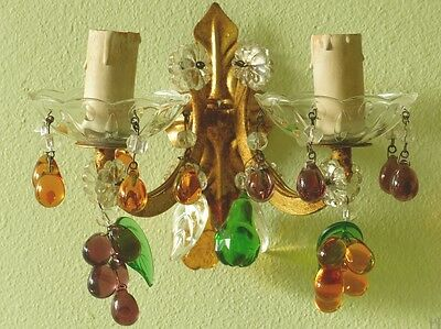Murano wall sconce georgous vintage venetian lighting 1940s