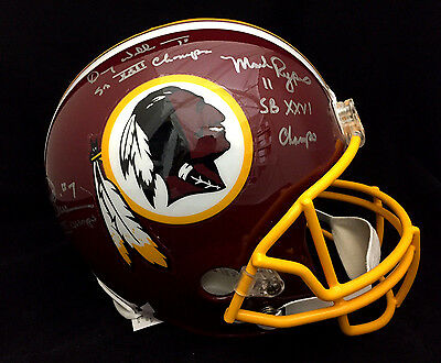 Redskins Joe Theismann Rypien Williams Autographed Full Size Fs Helmet Jsa Coa