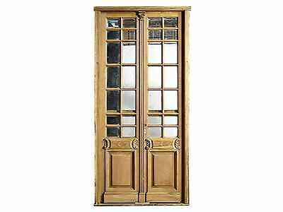 Double Wooden Door w/ Beveled Glass #D1169