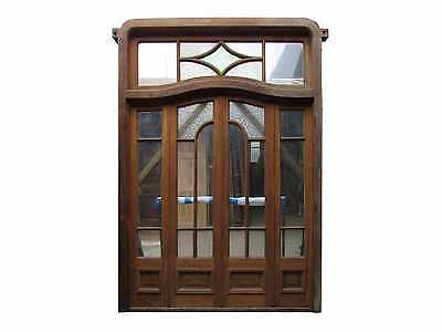 Antique Quad Glass Door with Transom #C1385