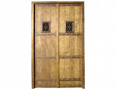 Antique Spanish Style Double Solid Door Wrought Iron #D1015