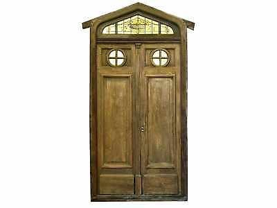 Triangle Top Double door w/ Transom #D1181