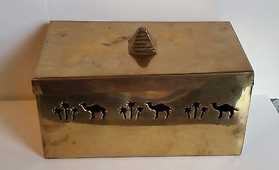Camel. RJR. Brass Cigarette Cigar Box, With Top. Oasis. Rare.