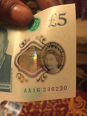 £5 AA16 441320 Banknote