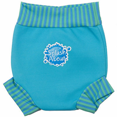 Splash About Happy Nappy 0-3-4 Months Baby Boys Small Aqua Blue Swimming Pants