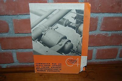 Brochure Catalogue Citroen Torpedo 4 Places Luxe  22 X 30 Cm Annee 30