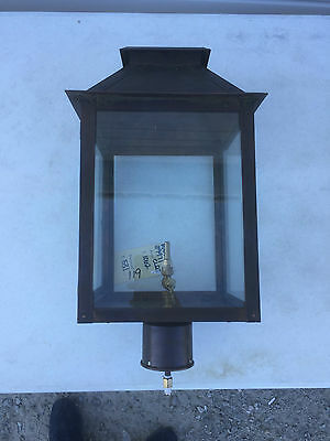 Antique Copper Colored Outdoor Gas Post Lamp Light MAX39971CLRT - Ret $1,062