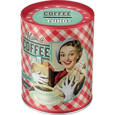 Have a Coffee Pin Up retro Blech Spardose im vintage Rockabilly style