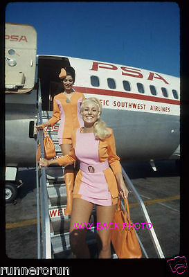 """5"""" by 7"""" PHOTO REPRINT OF PSA AIRLINES FLIGHT ATTENDANTS - NICE SHOT"""