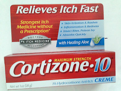 Cortizone 10  Maximum Strength Cream With Aloe Anti-Itch 1oz (28g) FAST FREEPOST