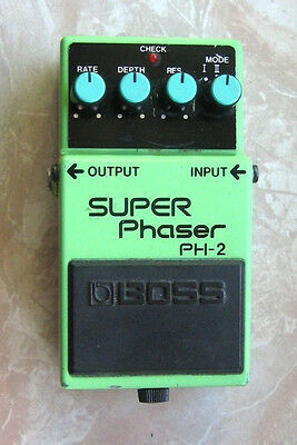 Boss PH-2 Super Phaser Vintage Black Label Phase Shifter Gitarren-Effekt-Pedal