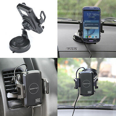 Universal Qi Wireless Charger Dock Car Mount Holder for Phone iPhone7 6S Samsung