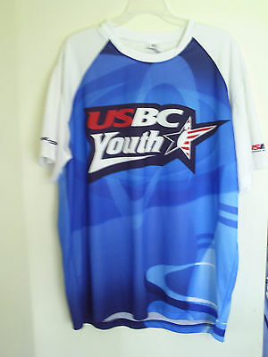 Authentic Bowling Jersey Usbc Youth Unisex Size 1X Gtm 100% Poly Shirt
