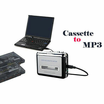Tape to PC USB Cassette to MP3 Converter Captue Adapter Audio CD Music Player UK