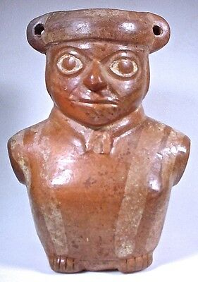 Pre-Columbian MOCHE PAINTED FIGURAL JAR