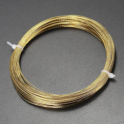 20M Car Windshield Window Removal Steel Wire Rope Glass Remover Tools Gold Roll
