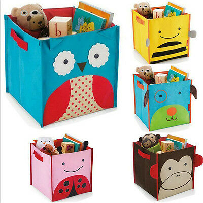 Foldable Nursery Cute Animal Print Storage Box Home Decor Pouch for Children Toy