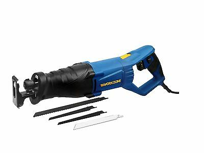 WorkZone Reciprocating Saw *NEW* German Quality 800W 230v 4Blades Work Case LED