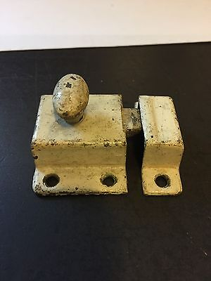 Old Antique Shabby Chippy Chic Paint Primative Cabinet Cupboard Door Latch Lock