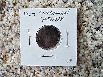 1927 Canada Canadian Small One Cent Penny 1c 1 cent