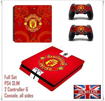 PS4 Football Utd Skin Console Controller PlayStation Sticker Decal Manchester RW