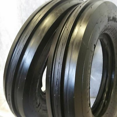2 550X16, 550-16. 5.50X16 DEERE FORD Six Ply 3 Rib Tractor Tires w/Tubes 5.50-16
