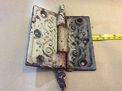 "Antique 5"" Ornate Metal Door Hinge"