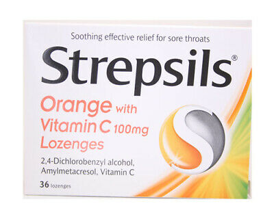 Strepsils Sore Throat And Cough Lozenges 24  relief from sore throats