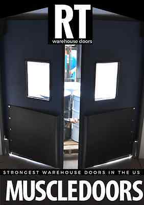 "Warehouse Traffic Doors  Impact Doors 60""x84"" (Double Panel) Supermarket Doors"