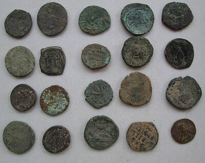 Lots of 20 Uncleaned  Byzantine Bronze Coins Good Quality
