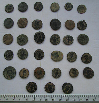 Lots of 33 Uncleaned Roman  Bronze Coins high Quality