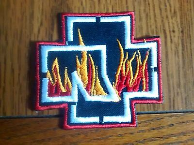 Rammstein Logo With Flames,iron On Embroidered Patch