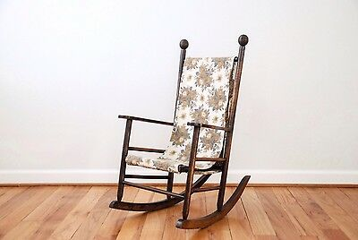 Vintage Antique Children's Rocking Chair Victorian Child Wooden Chair, Kid's