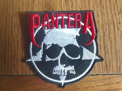 Pantera,iron On Red And White Embroidered Patch